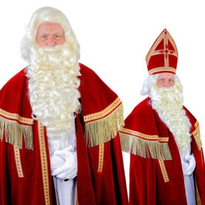 Foto van Sinterklaas baard TV-Sint kanekalon (55cm) 34.111