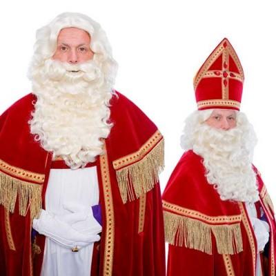 Foto van Sinterklaas baard P krulsnor kanekalon 34.119