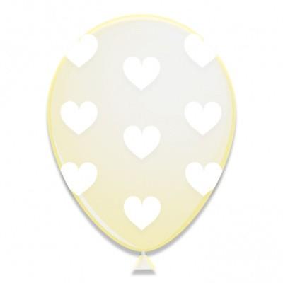 Foto van Ballonnen Witte Hartjes 6st