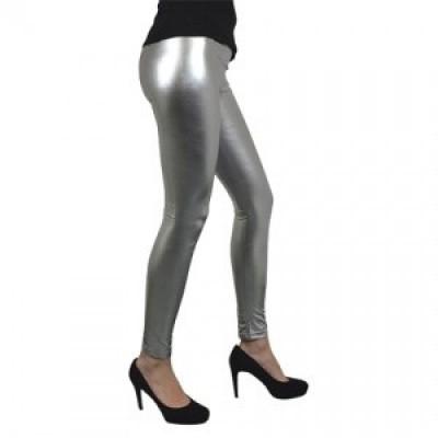 Foto van Metallic legging zilver