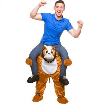 Foto van Carry me kostuum bulldog