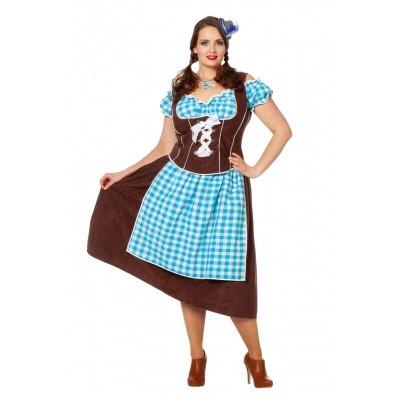 Dirndl jurk lang - Julia (plus size)