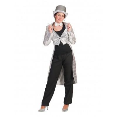 Foto van Circus slipjas zilver dames