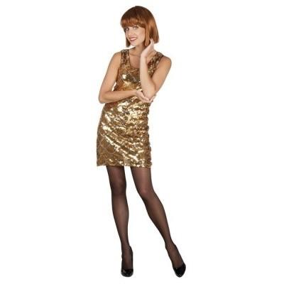 Foto van Pailletten jurkje goud