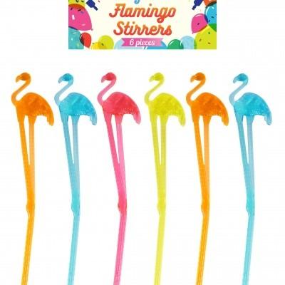Foto van Flamingo roerstaafjes