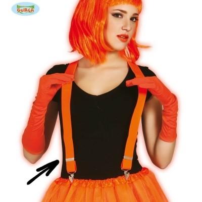 Foto van Bretels neon oranje