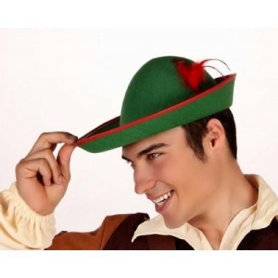 Robin Hood hoed met veer