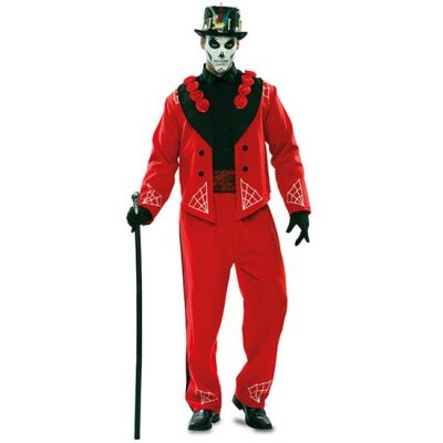 Foto van Day of the Dead kostuum - rood