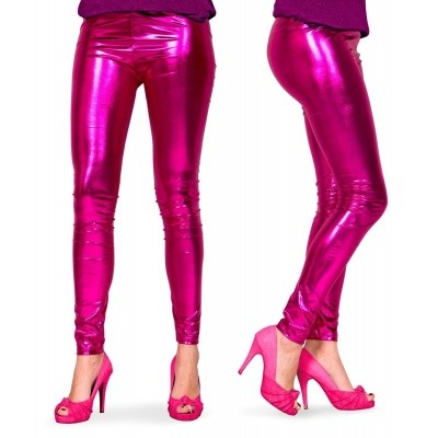 Foto van Metallic legging roze