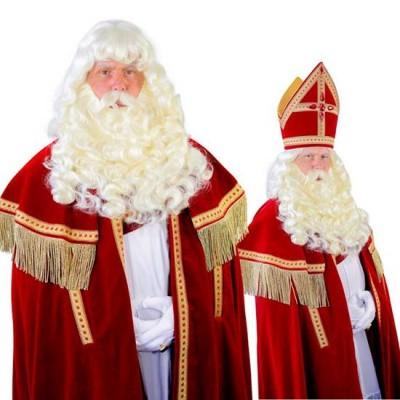 Foto van Sinterklaas baard Myra kanekalon losse snor 34.112