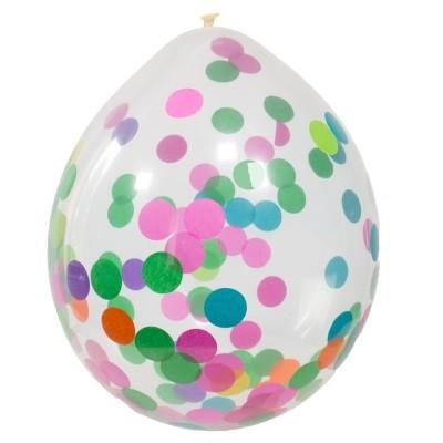 Foto van Confetti Ballonnen multicolor 4 st. (30 cm)