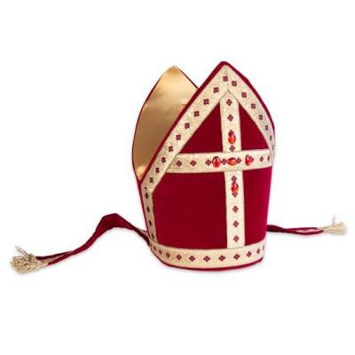 Foto van Sinterklaas kokermijter katoenfluweel