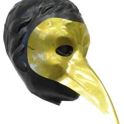 Foto van Snavelmasker plastic venetie goud