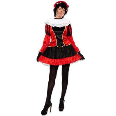 Foto van Pietjurkje met petticoat rood
