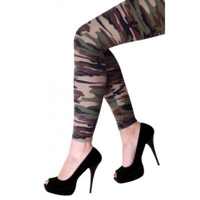 Leger Legging met camouflage print