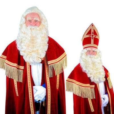 Foto van Sinterklaas baard TV-Sint buffelhaar (Yak) 34.101