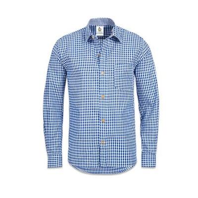 Foto van Blauw wit geblokt overhemd