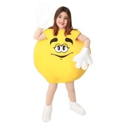 Foto van M&M kostuum geel kind