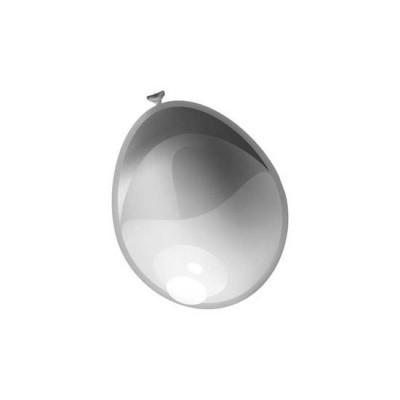 Foto van Ballonnen Metallic zilver 10st.