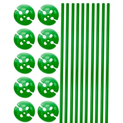 Foto van Ballon stokjes 10st. Groen