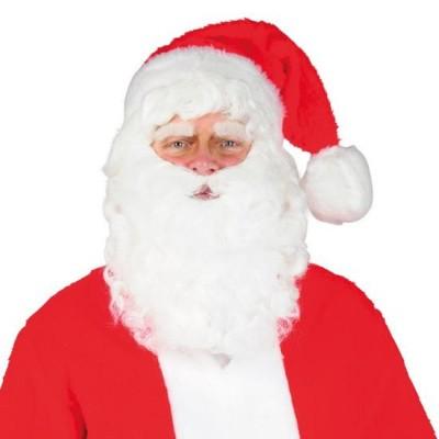 Foto van Kerstmanbaard en pruik met kinzak
