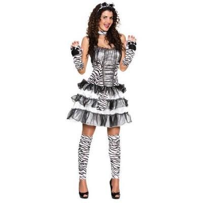 Foto van Zebra kostuum dames