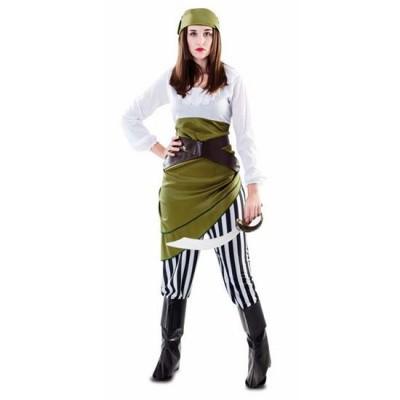Foto van Piraten kostuum groen