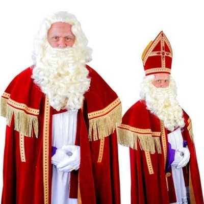 Foto van Sinterklaas baard TV-Sint kanekalon (45cm) 34.110