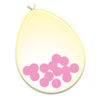 Foto van Ballonnen Roze Confetti 6st 30cm