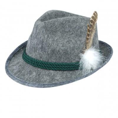 Foto van Tiroler hoed grijs