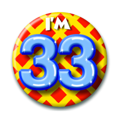 Button 33 jaar