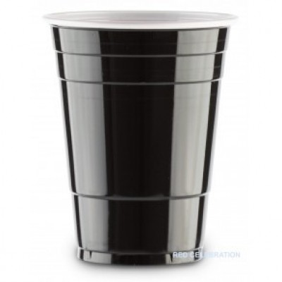 Foto van Black cups 500 ml (25 st.)
