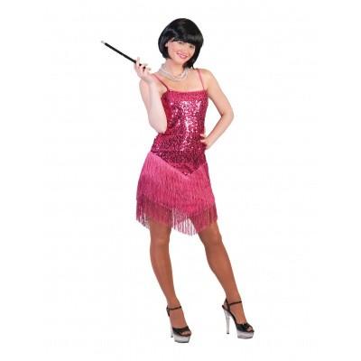 Foto van Jaren 20 jurkje showgirl roze