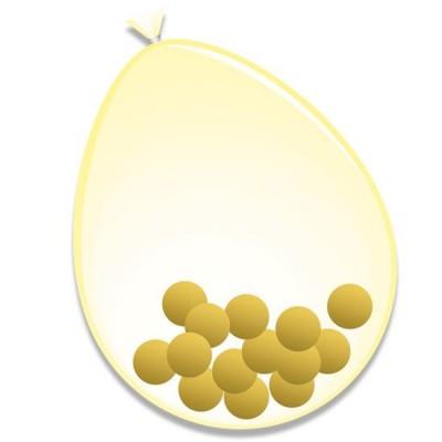 Foto van Confetti Ballonnen goud 6 st. (30 cm)