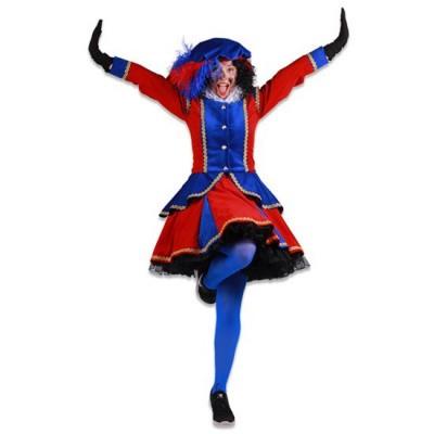 Foto van Dames pietenjurk Madrid rood/blauw