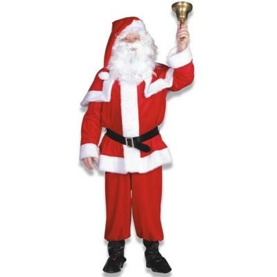 Foto van Kerstman kostuum polyesterfluweel