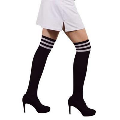 Foto van Cheerleader sokken zwart wit