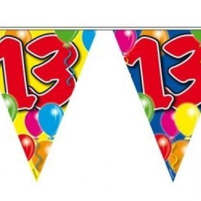 Vlaggenlijn balloons 13 jaar 10M