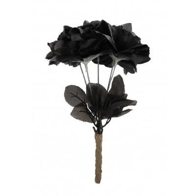 Foto van Zwarte rozen boeket