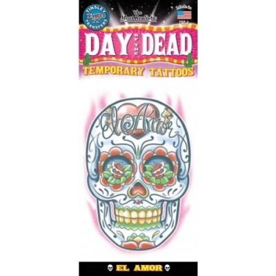 Foto van Day of The Dead skull Tattoo