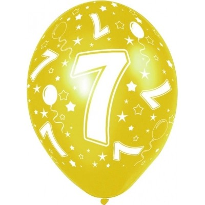 Ballonnen 7 jaar 5 stuks