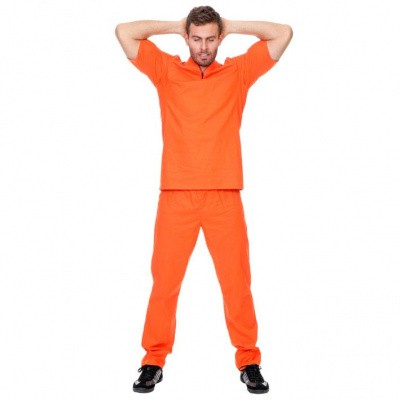 Foto van Oranje boevenpak Luxe
