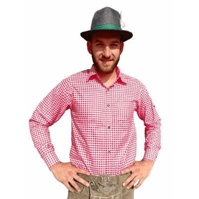Foto van Tiroler overhemd rood-wit