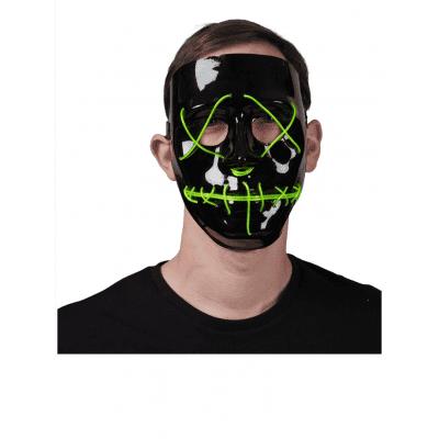 Foto van Lichtgevend masker groen