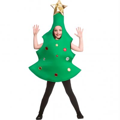 Foto van Kerstboom kostuum kind (gouden piek)