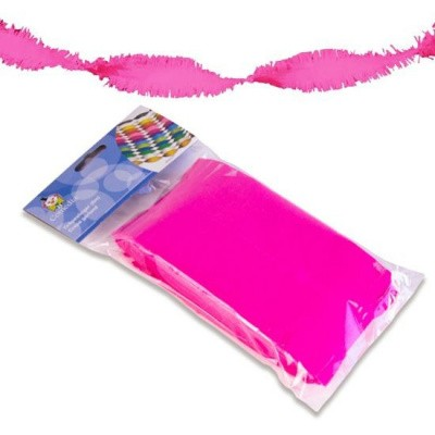 Foto van Crepe slinger neon roze 6m