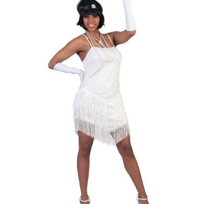 Foto van Jaren 20 jurkje showgirl wit