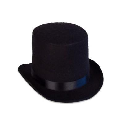 Hoge hoed vilt luxe zwart