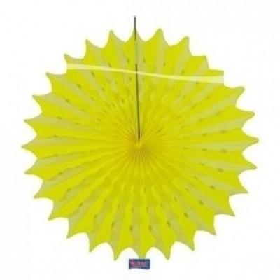 Foto van Papieren pompon neon geel