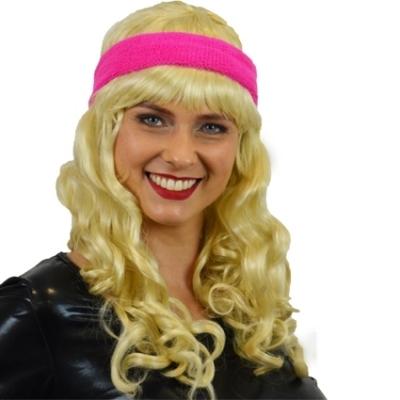 Foto van Zweet hoofdband neon roze